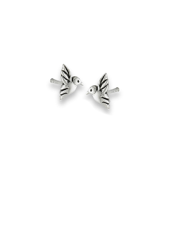 Hummingbird Posts | Sterling Silver Stud Earrings | Light Years Jewelry