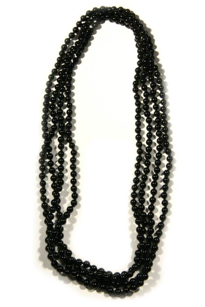 Long Stone Beaded Necklace, $28 | Black Onyx | Light Years Jewelry