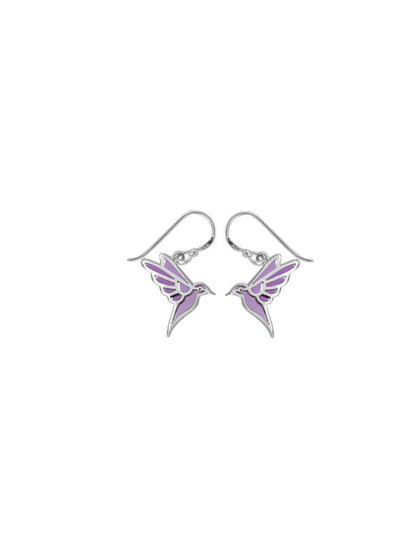Enamel Hummingbird Dangles | Sterling Silver Earrings | Light Years