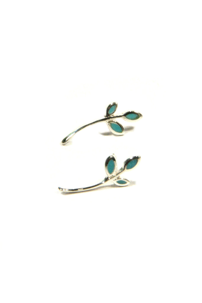 Turquoise Branch Posts | Sterling Silver Studs | Light Years Jewelry