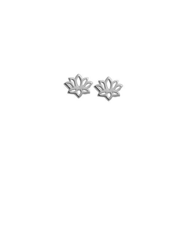 Small Lotus Posts | Sterling Silver Stud Earrings | Light Years Jewelry