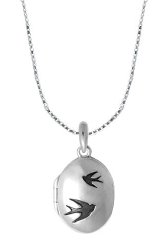 Flying Birds Locket, $36 | Sterling Silver Necklace | Light Years