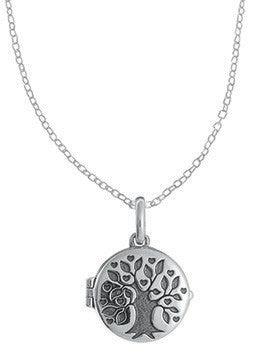 Tree Locket with Chain, $34 | Sterling Silver Necklace | Light Years