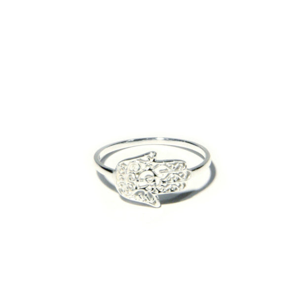 Small Filigree Hamsa Ring, $12 | Sterling Silver | Light Years Jewelry