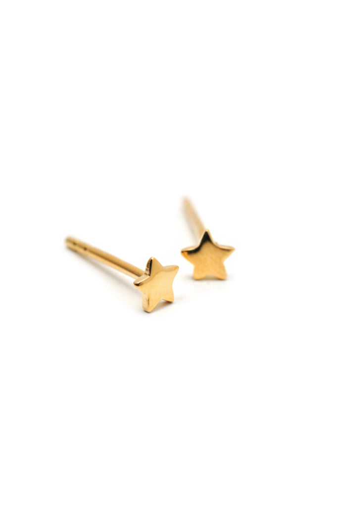 Tiny Gold Star Posts | Gold Vermeil Studs Earrings | Light Years Jewelry