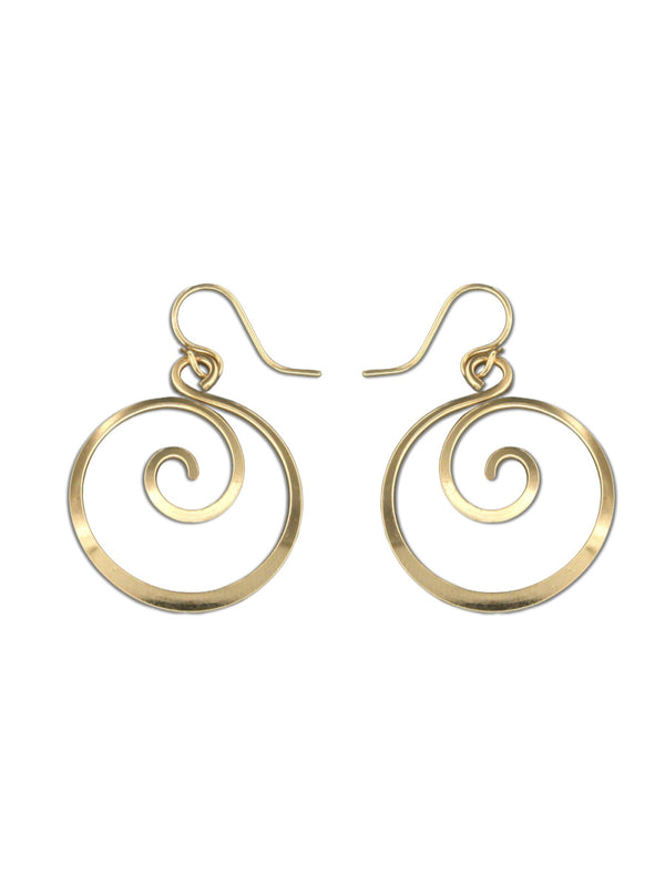 Spiral Drop Dangle Earrings | Sterling Silver Gold Filled | Light Years