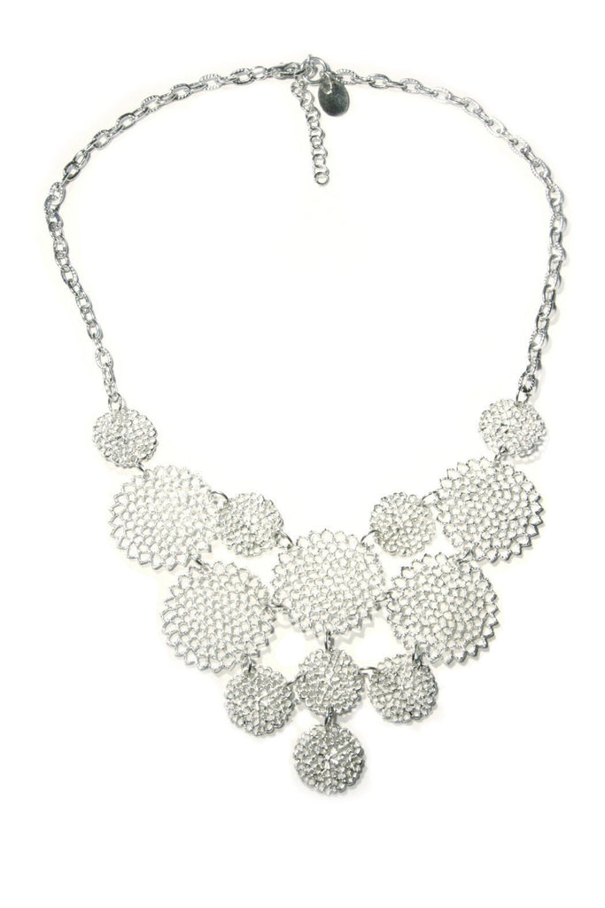 Lacy Circles Statement Necklace, $15 | Fashion Silver | Light Years