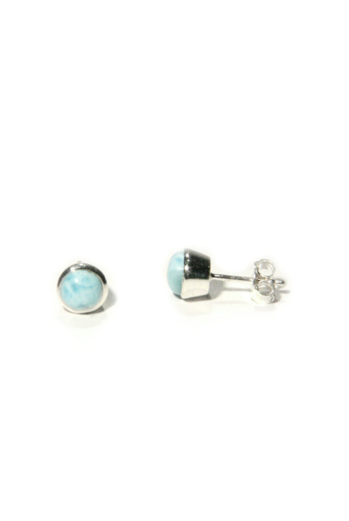 Sterling Silver Larimar Posts, $22 | Light Years Jewelry
