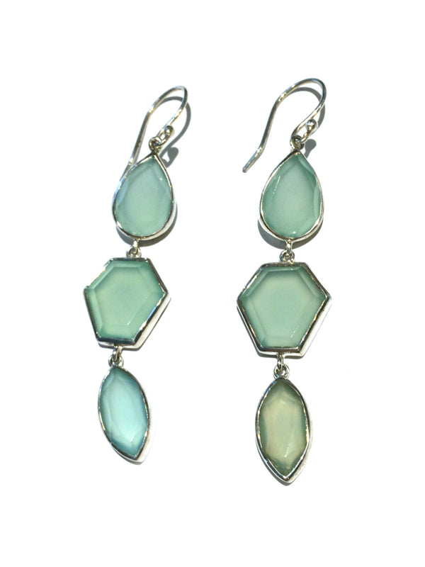 Geometric Chalcedony Set | Sterling Silver | Light Years Jewelry