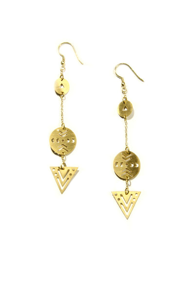 On Point Dangles, $15 | Geometric Earrings | Light Years Jewelry