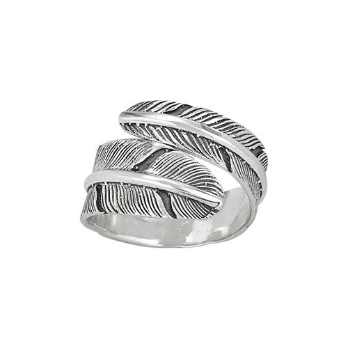 Wrapped Feather Ring