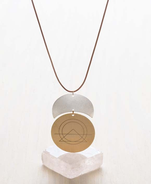 Sacred Geomtery Necklace, $32 | Light Years Jewelry