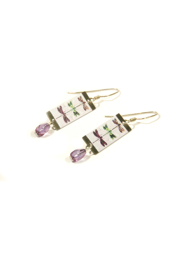 Purple Dragonfly Dangles, $18 | Sterling Silver | Light Years Jewelry