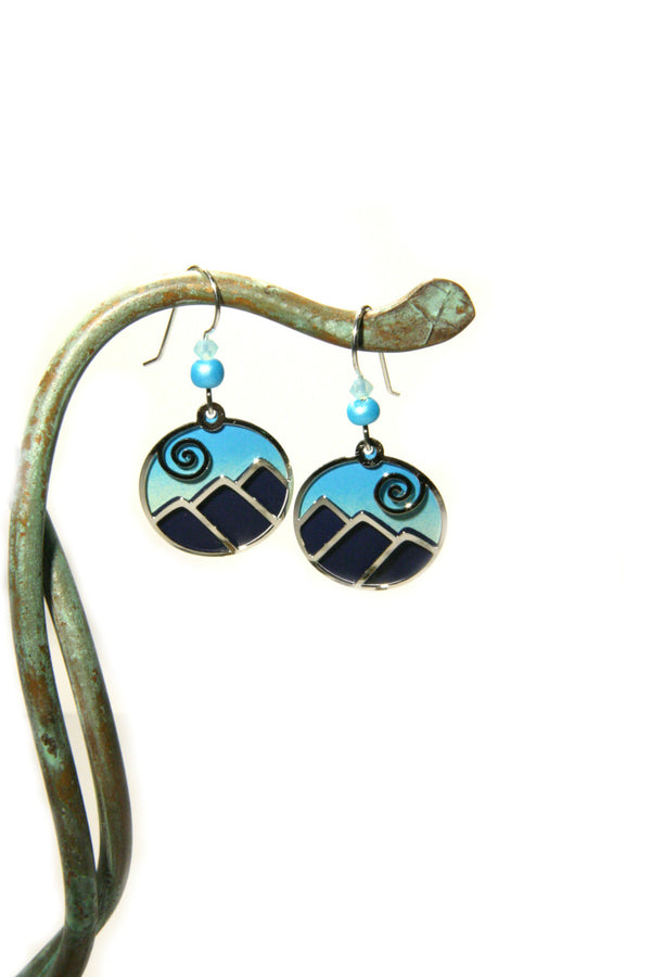 Blue Mountain Range Dangles by Sienna Sky, $20 | Light Years Jewelry
