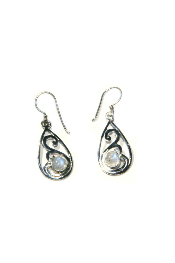 Stone Swirl Dangles | Sterling Silver Gemstone Earrings | Light Years