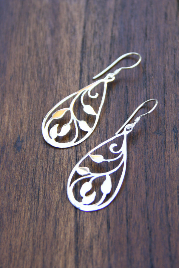 Open Vine Dangles, $24 | Handmade Sterling Silver | Light Years Jewelry