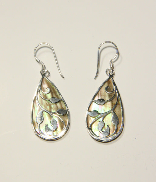 Shell Leaf Dangles, $30 | Abalone, Onyx or Shell | Light Years Jewelry