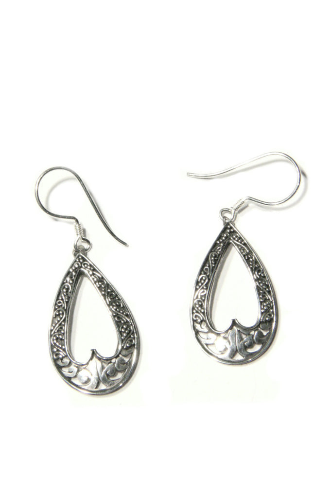 Teardrop Filigree Dangles | Sterling Silver Earrings | Light Years