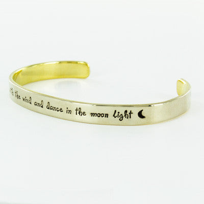 Brass Quote Cuffs
