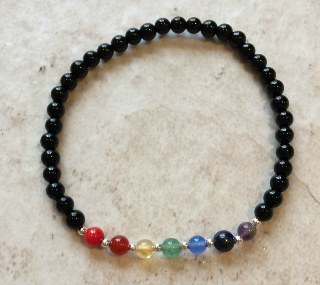 Seven Stone Chakra Bracelet, $9 | Power Mini | Light Years Jewelry