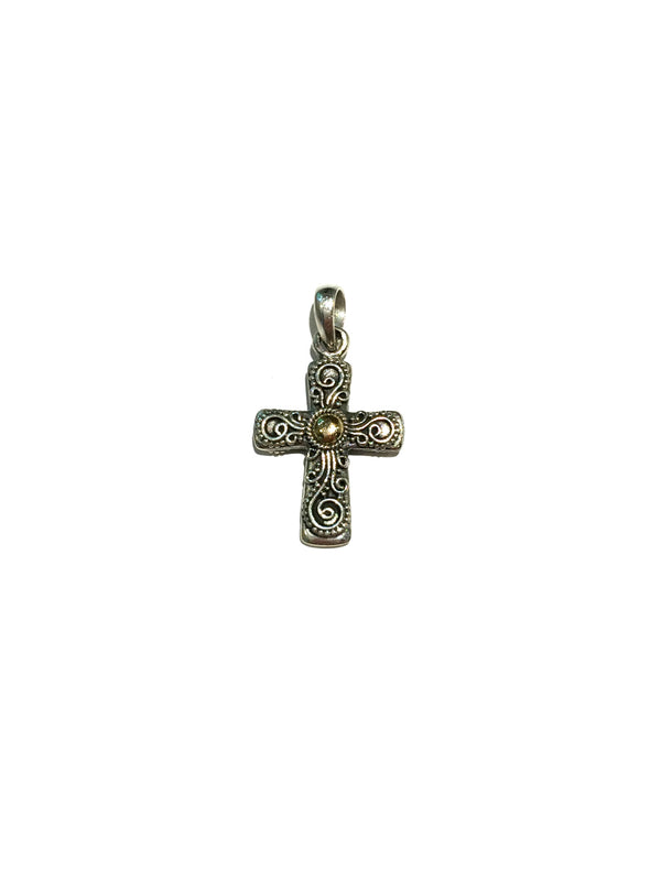 Filigree Cross Necklace | Sterling Silver 18kt Gold | Light Years
