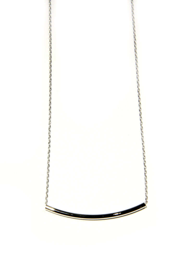 Curved Tube Necklace, $10 | Silver & Gold Plated | Light Years Jewelry