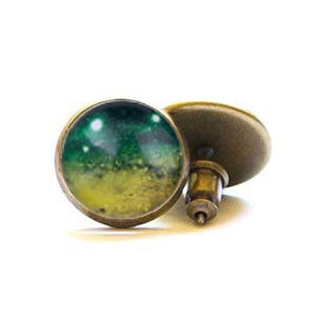 Beijo Brasil Brass Galaxy Posts, $14 | Light Years Jewelry