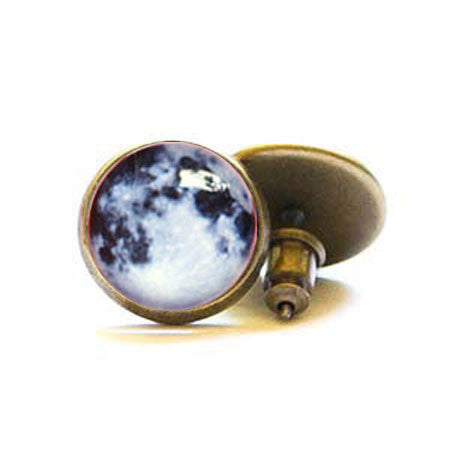 Beijo Brasil Brass Moon Posts, $14 | Light Years Jewelry