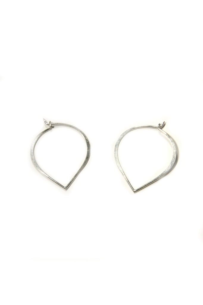 Lotus Petal Hoops, $16 | Silver, Gold, Rose Gold | Light Years Jewelry