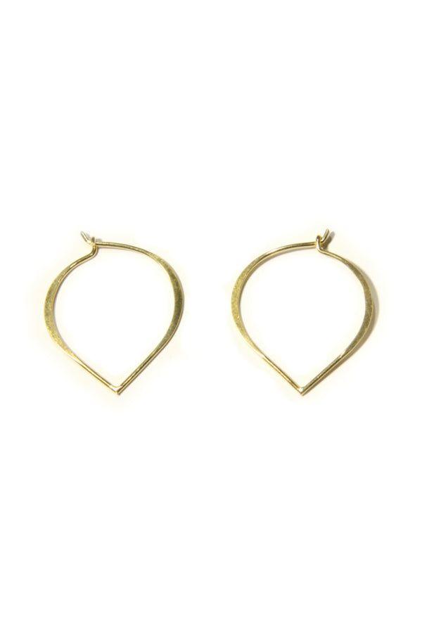 Lotus Petal Hoops | Gold Vermeil | Light Years Jewelry