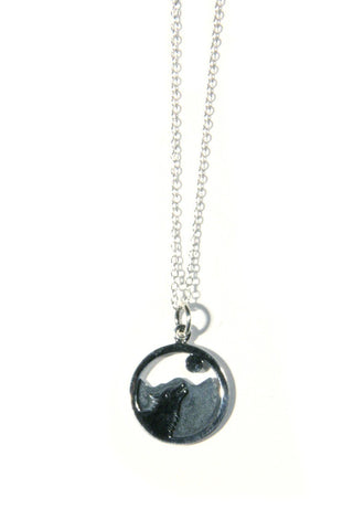 Howling Wolf Necklace, $36 | Sterling Silver | Light Years Jewelry
