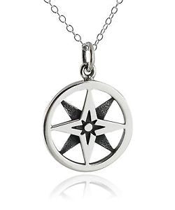 Compass Rose Necklace, $38 | Sterling Silver | Light Years Jewelry