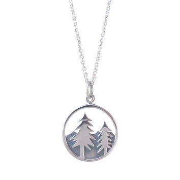 Mountain Trees Necklace, $38 | Sterling Silver | Light Years Jewelry