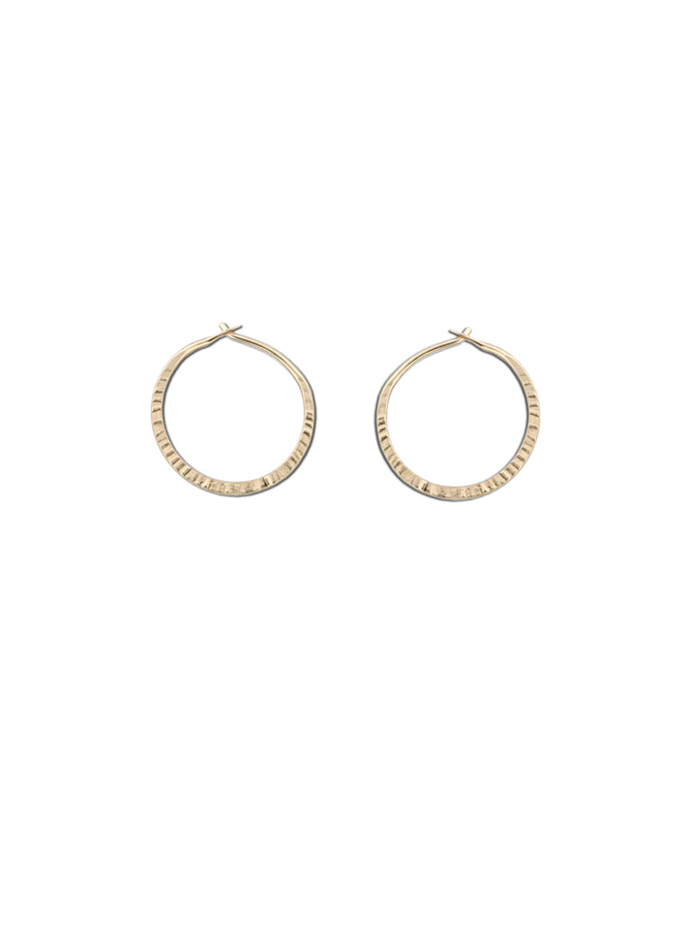 Handmade Etched Hoops | 14k Gold Filled Earrings | Light Years Jewelry