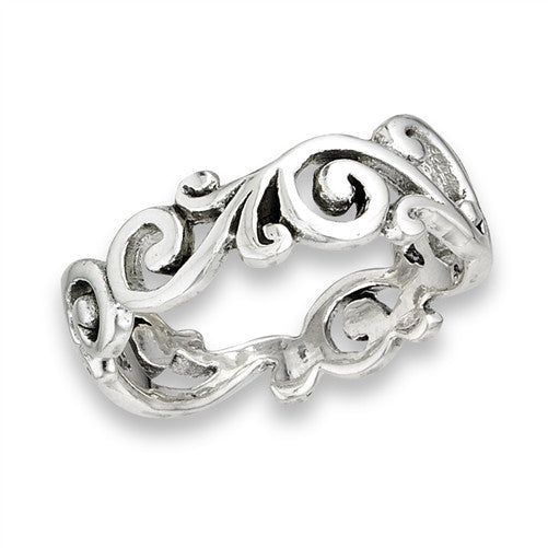 Branching Swirl Ring, $18 | Sterling Silver Band | Light Years Jewelry