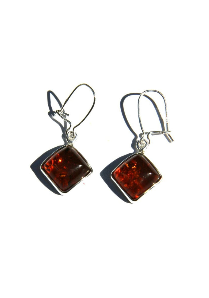 Amber Diamond Dangles, $24 | Sterling Silver | Light Years Jewelry