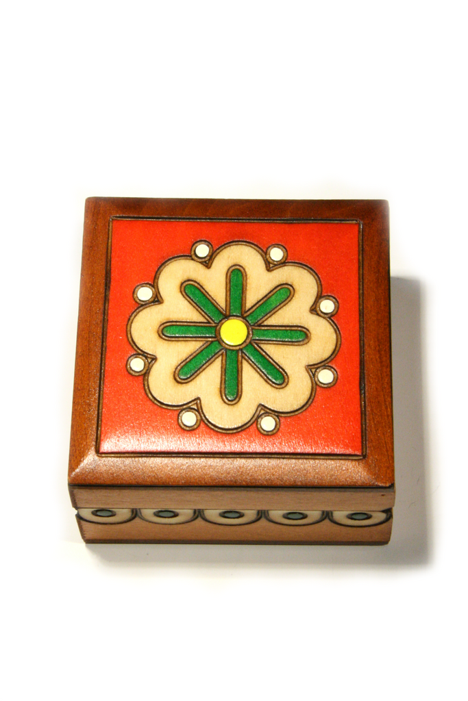 Flower Wood Box, $11 | Made in Poland | Light Years Jewelry