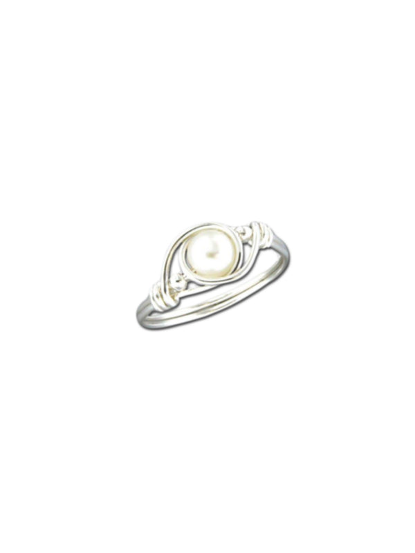 Wrapped Pearl Ring | Sterling Silver 5 6 7 8 9 | Light Years Jewelry