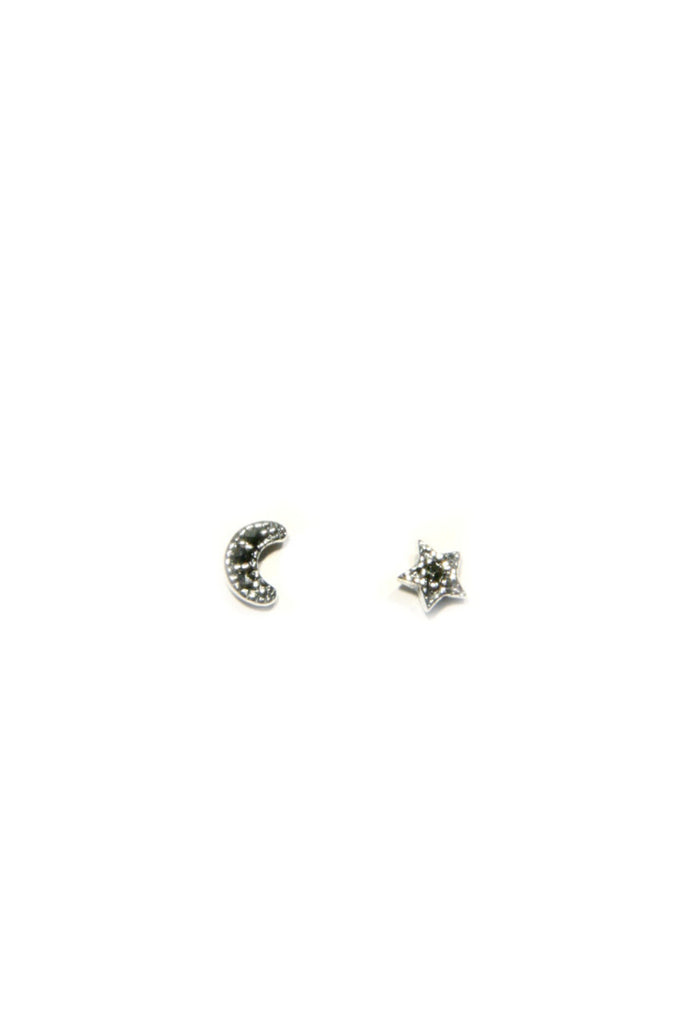 Marcasite Moon & Star Posts, $12 | Sterling Silver | Light Years Jewelry