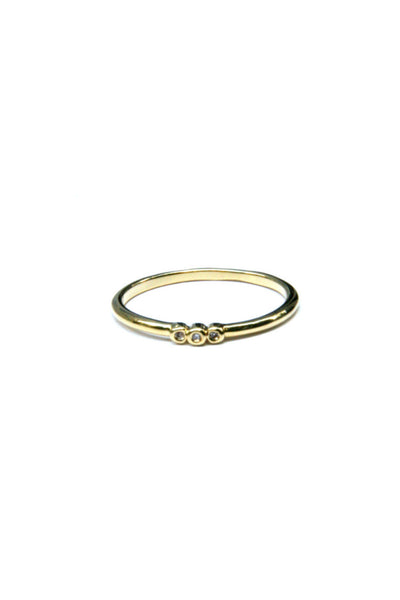 Triple CZ Ring, $9 | Gold Plated Band | Light Years Jewelry
