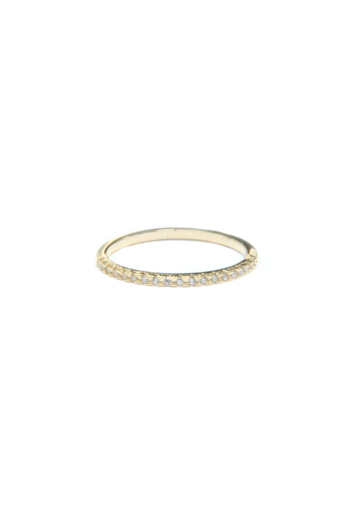 CZ Studded Band, $11 | Gold Plated Band | Light Years Jewelry