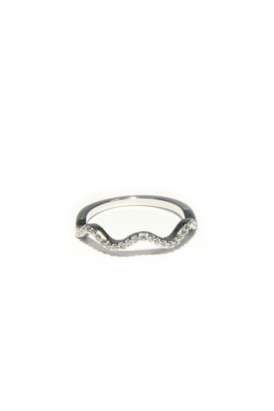 CZ Wave Ring, $11 | Silver Plated | Light Years Jewelry