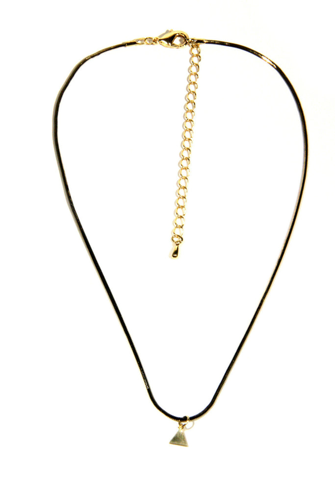 Black & Gold Triangle Choker, $11 | Light Years Jewelry