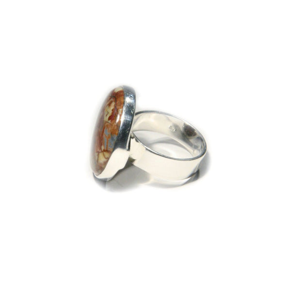 Dynasty Jasper Ring, $34 | Sterling Silver Stone | Light Years Jewelry