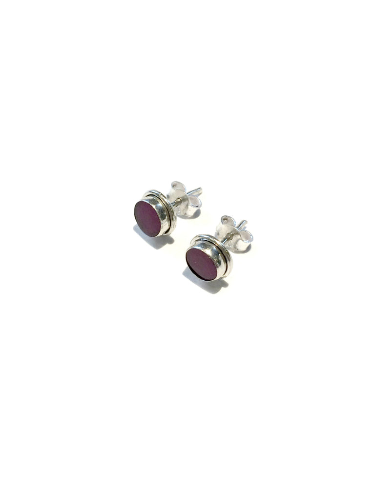 Faceted Ruby Posts | Sterling Silver Studs Earrings | Light Years