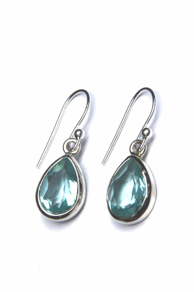 Blue Topaz Teardrop Dangles, $18 | Sterling Silver Earrings | Light Years