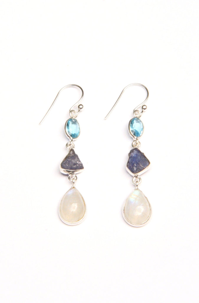 Triple Stone Dangles, $22 | Sterling Silver | Light Years Jewelry
