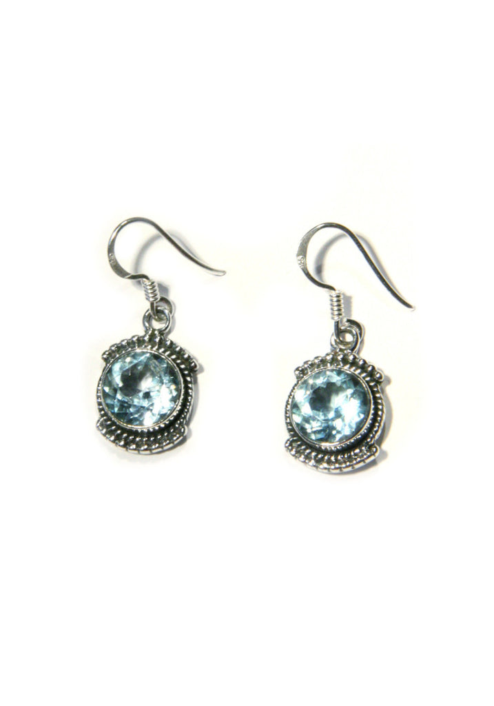 Detailed Stone Dangles, $24 | Blue Topaz | Light Years Jewelry