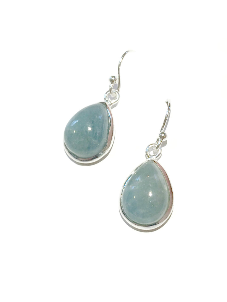 Aquamarine Teardrop Dangles | Sterling Silver Earrings | Light Years
