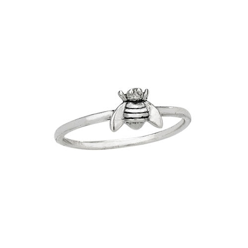 Cute Bee Ring | Sterling Silver Sizes 6 7 8 9 | Light Years Jewelry